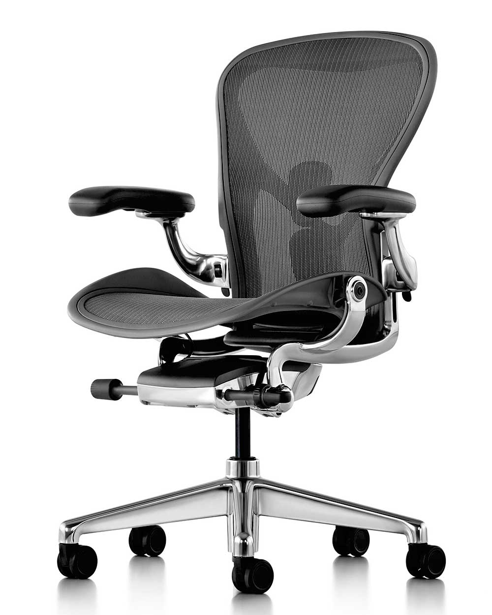 herman miller new aeron aluminium poliert sofort. Black Bedroom Furniture Sets. Home Design Ideas