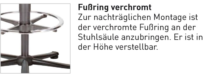 Fußring Bimos All-In-One reine Option bei Neukauf eines Stuhls